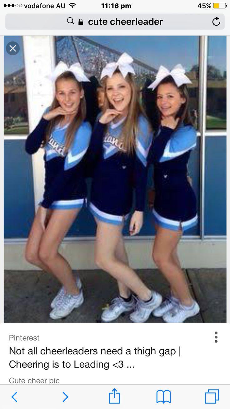 Not all cheerleaders need a thigh gap! Cute cheerleaders!