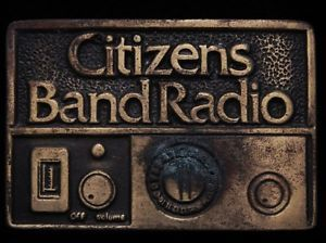 1970s CB Radio | ... about HK29149 VINTAGE 1970s ****CITIZENS BAND RADIO**** CB BELT BUCKLE