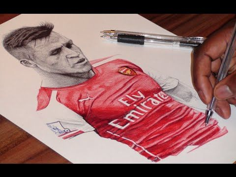 Pen Drawing Of Alexis Sanchez - Arsenal FC - Freehand Art - YouTube