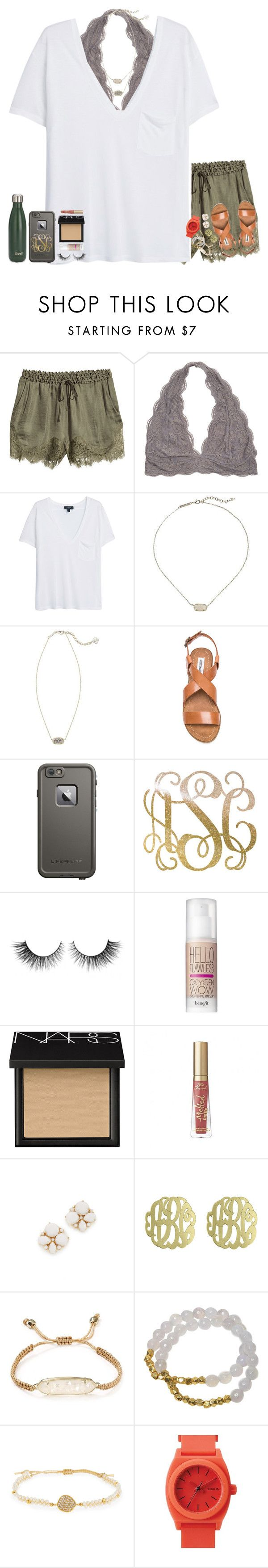 """""""•be a pineapple; one who can be entertaining for 2 hours•"""" by cfc-28-sc ❤ liked on Polyvore featuring H&M, MANGO, Kendra Scott, Steve Madden, LifeProof, Rimini, Benefit, NARS Cosmetics, Kate Spade and Initial Reaction"""