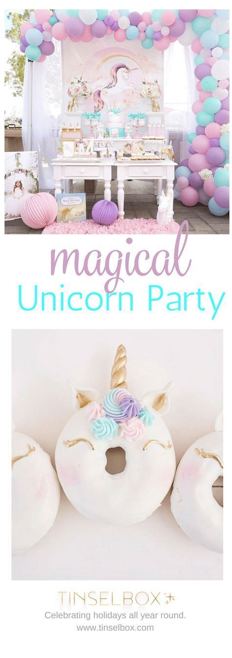 Magical Purple and Gold Unicorn Party Ideas from Tinselbox