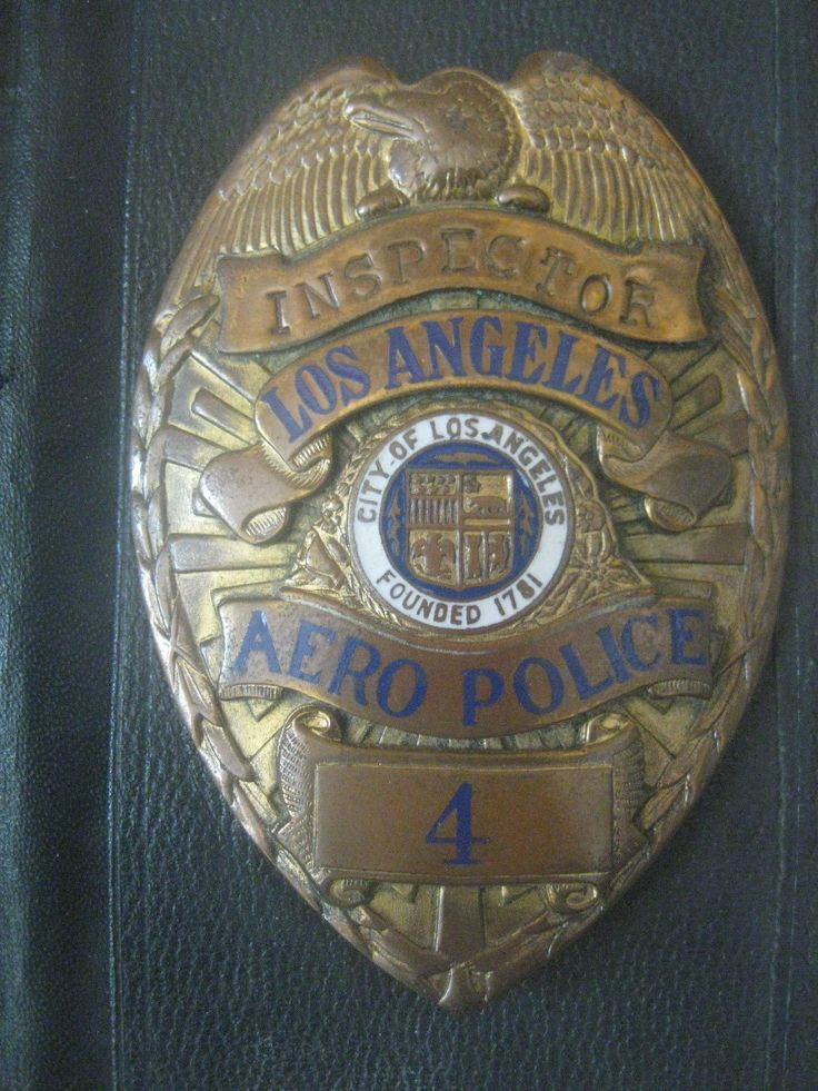 LOS ANGELES POLICE DEPARTMENT AERO Police BADGE LAPD Inspector