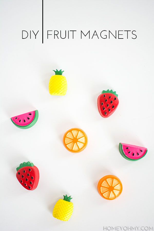 DIY Fruit Magnets - Homey Oh My!