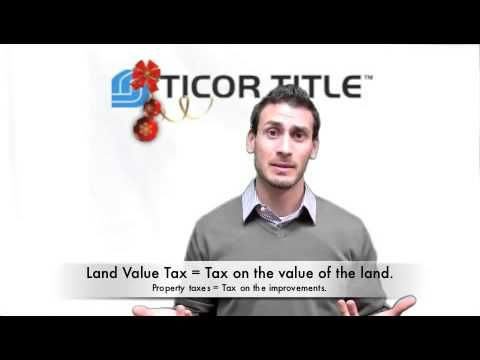 Land Value Tax  In this video we introduce and discuss the land value tax.  have you heard of it?  If not, then this video is for you. It posses the question whether the land value tax is better than property taxes. The land value tax is a tax on the value of the land, where property taxes is a tax on the improvements of the property. Do you agree with that?  Some even say that property taxes are a tax on development.....  Scott Kueny