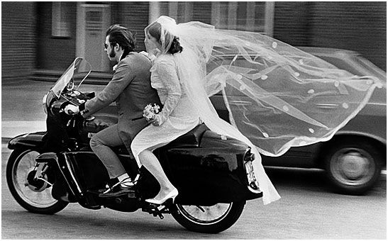 Just Married: Vintage Photos, Classic Motorcycles, Arthur Steel, Arthur Stell, Bride, Vintage Style