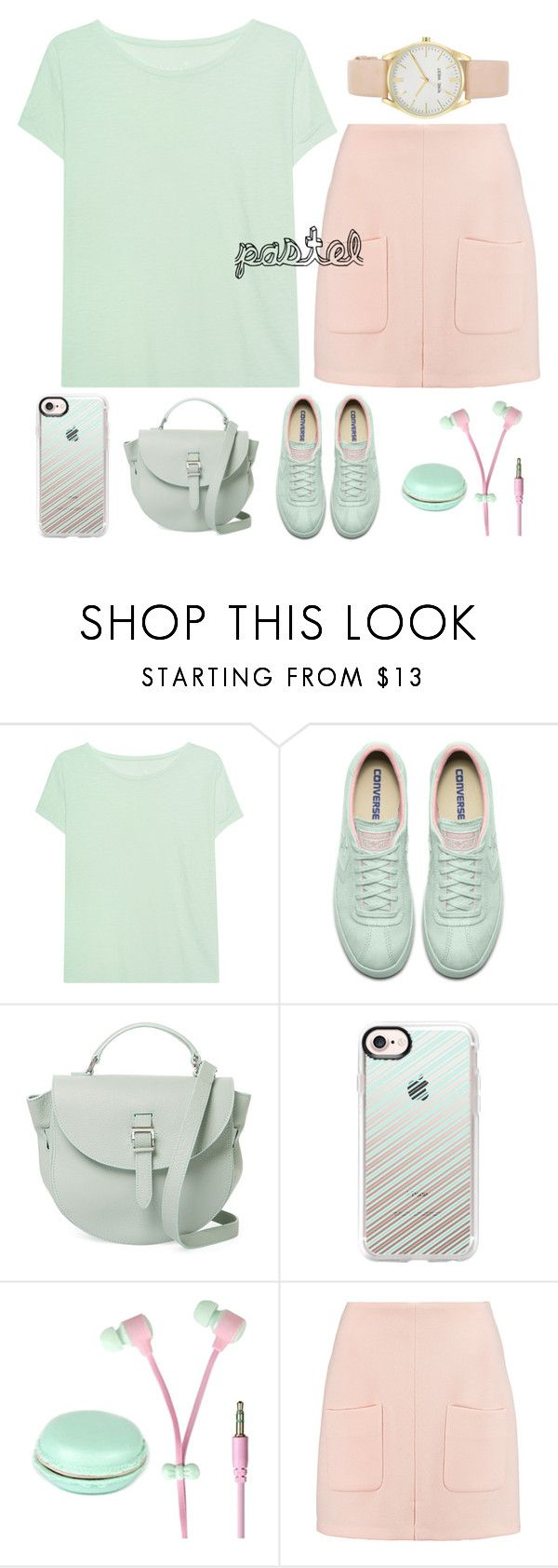 """""""10.05.2017"""" by renyic ❤ liked on Polyvore featuring Juvia, Meli Melo, Casetify, See by Chloé, Nine West, Pink, GREEN, pastel, outfits and women"""