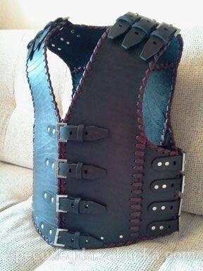 Жилет кожаный, с красной шнуровкой. Цена 1450 грн, купить в Киевской области, отзывы