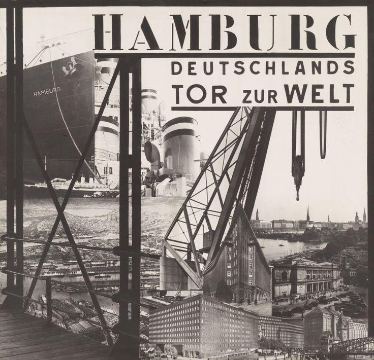 César Domela-Nieuwenhuis Hamburg, Germany's Gateway to the World 1930, Gelatin silver print