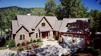 European Luxury Plan with Angled Garage House Plans Home Plans