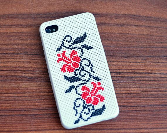 Ethnic Cross stitch iPhone case 4 or 4s  ethnic by skrynka on Etsy, $48.00