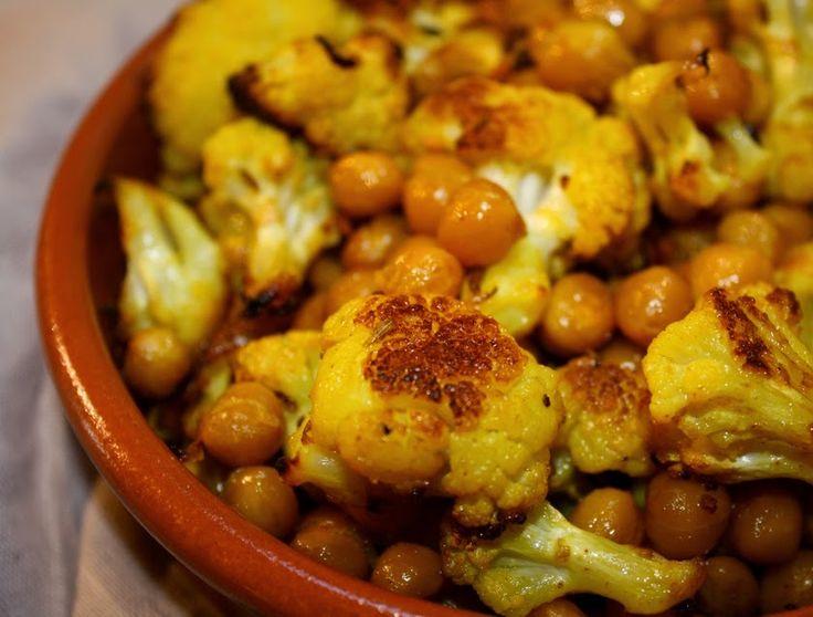 Cantinho Vegetariano: Couve-Flor e Grão-de-Bico Assados com Especiarias ...