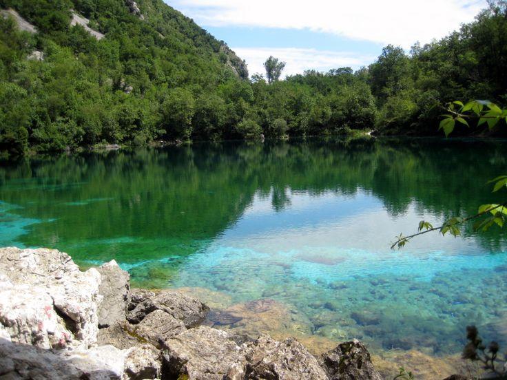 Panoramica del lago di Cornino
