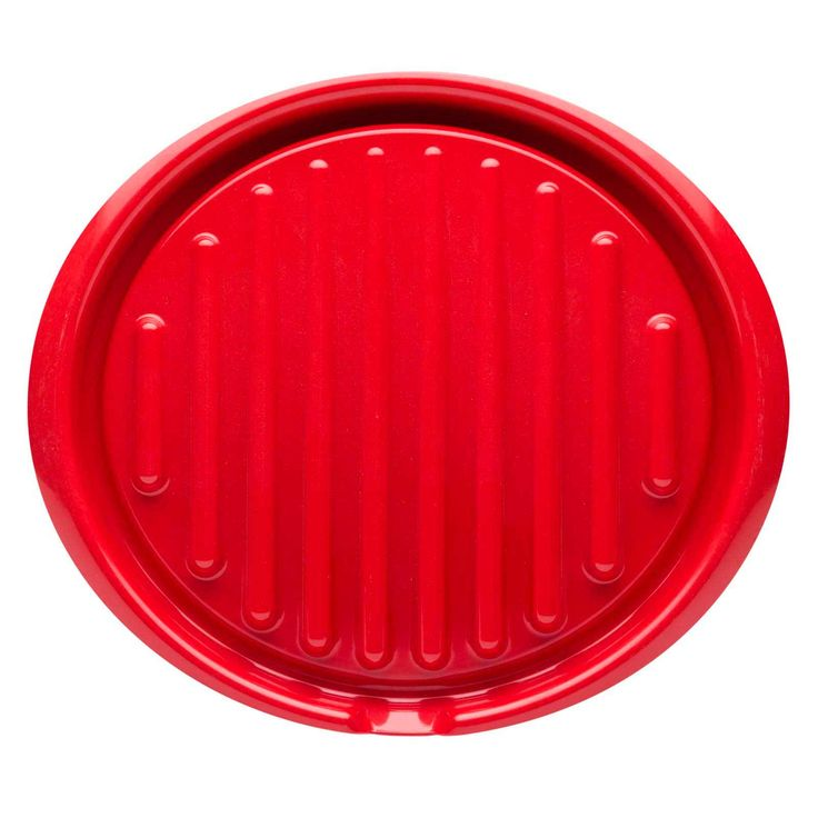 Zakwave Microwave-Safe Bacon Tray - Red - front view