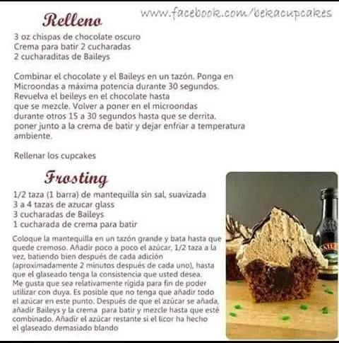 baileys cupcake 2º parte