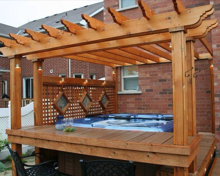 Hot tub area | Backyard ideas | Pinterest | Hot tubs, Tubs ...