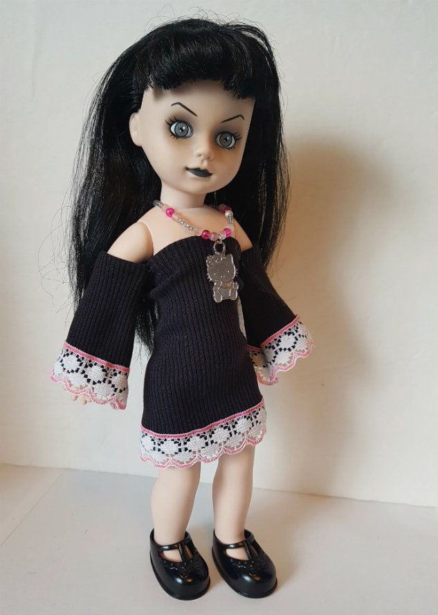 Living Dead Doll Clothes HELLO KITTY Dress & Necklace goth fashion NO DOLL d4e #DOLLS4EMMAOriginalDesigns #ClothingAccessories