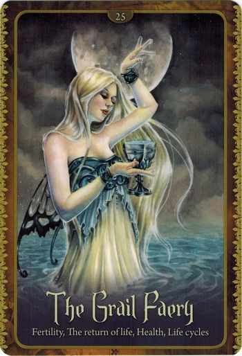 Review Lá The Grail Faery - Wild Wisdom of The Faery Oracle bài tarot