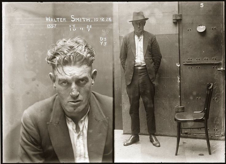 Australian Police mugshots from early 1900's