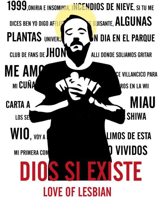 LOVE OF LESBIAN #diseñografico #loveoflesbian #diosnoexiste #santibalmes