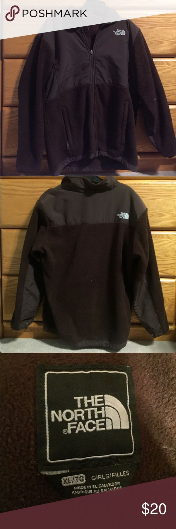 Classic North Face Fleece Girls Classic north face fleece. Girls XL. Elastic in the bottom waistband is twisted inside, and name crossed out on the left interior but other wise in great condition! North Face Jackets & Coats