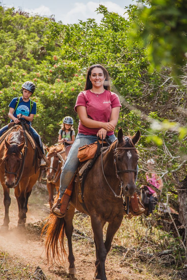 Horseback riding on the north shore of Oahu, Hawai'i. There's no better way to experience the beautiful views!