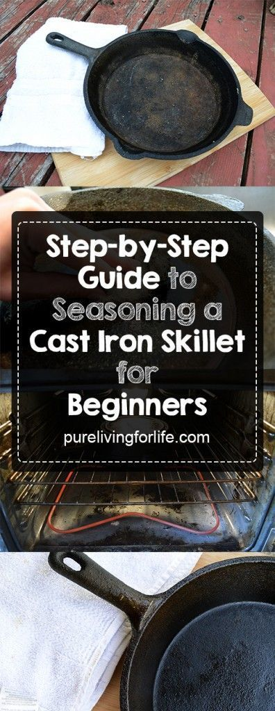 If you're intimidated by the idea of seasoning your cast iron skillet then fear not! Easy as pie.