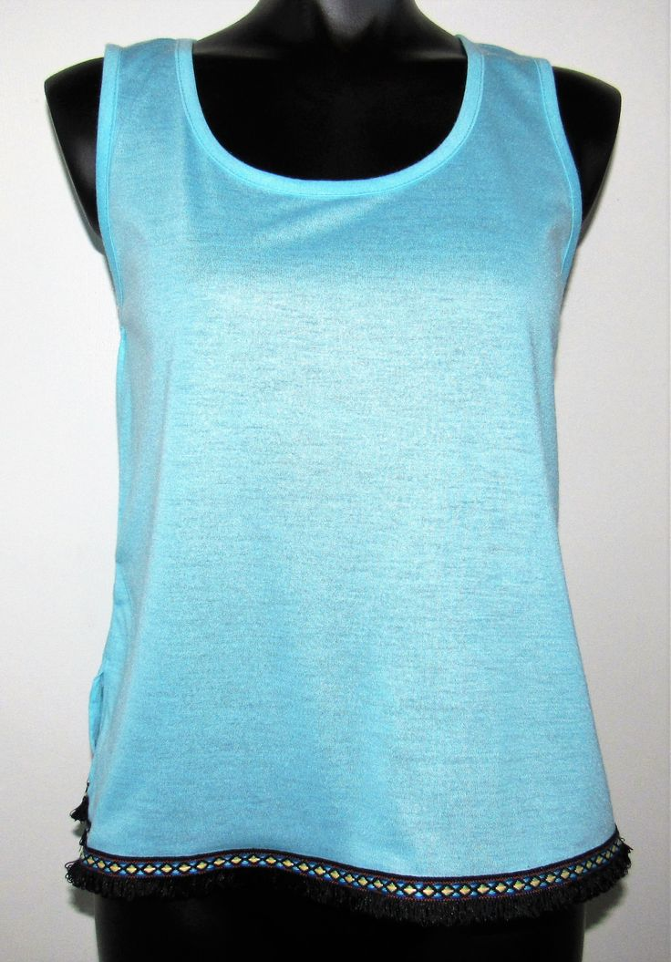 Baby Blue Cami with Trim