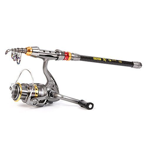 2a2d1603c31 Lixada Fishing Rod Reel Combo Fishing Rod Reel Kit with Carbon Fiber Fishing  Rod Pole +