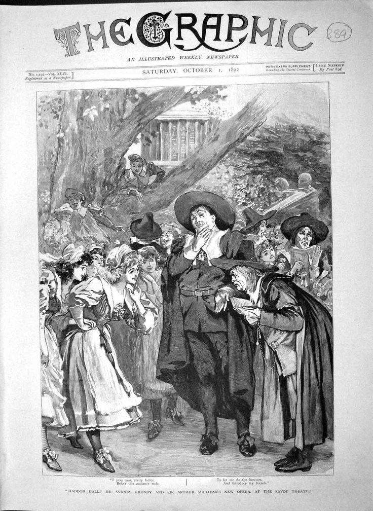Antique Print 1892 Haddon Hall Sydney Grundy Sullivan Savoy Theatre 389M146 | eBay