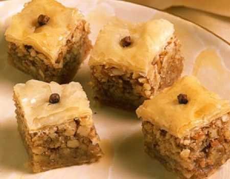 Μπακλαβαδάκια με μέλι