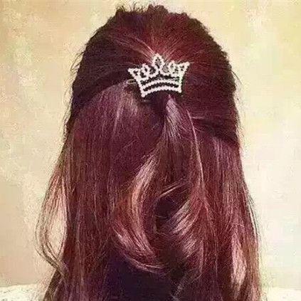 $2.02 Hair Pin Bang Clip Fashion Small Pearl Star Crown Bowknot Design 1PC - BornPrettyStore.com