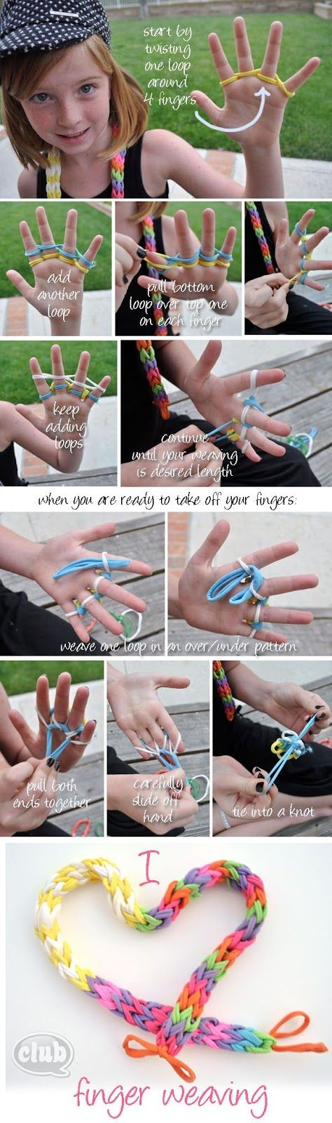 finger weaving tutorial....only tried this with yarn before...hmmm