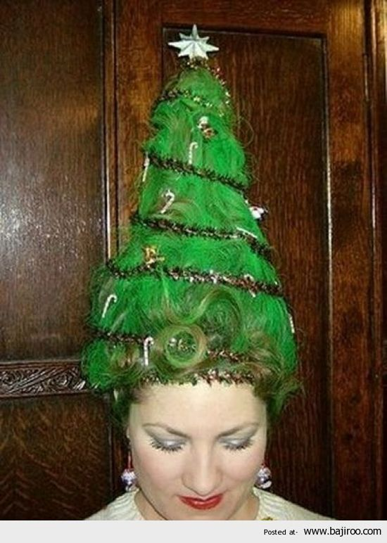 Crazy Christmas Party Ideas Part - 33: Great Hair To Match Your Ugly Christmas Sweater! For More Ugly Christmas  Sweater Party Ideas
