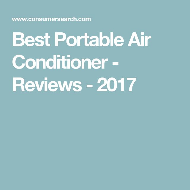 Best Portable Air Conditioner - Reviews - 2017