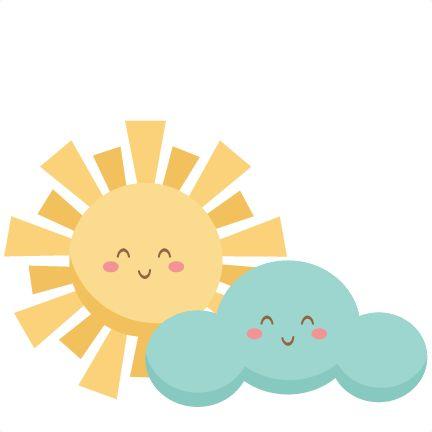 Happy Sun and Cloud SVG scrapbook cut file cute clipart files for silhouette cricut pazzles free svgs free svg cuts cute cut files
