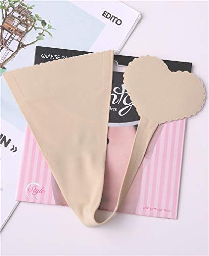 1693e7df0 VENILYNN C String Thongs for Women Invisible Self Adhesive Thong Underwear