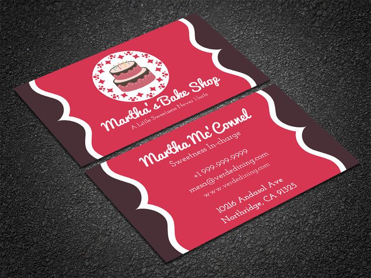 35 best free professional business card edit online and download free pastry chef business card reheart Gallery