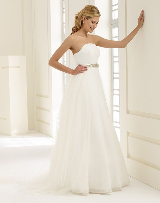 DOLORES detachable overskirt + CATARINA dress from Bianco Evento