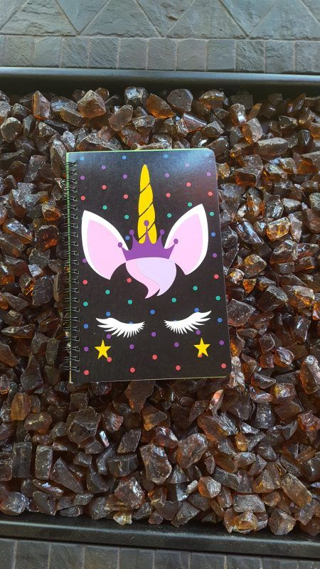 Unicorn Polka Dot Notebook With 96 Lined Multi Colored Pages By A