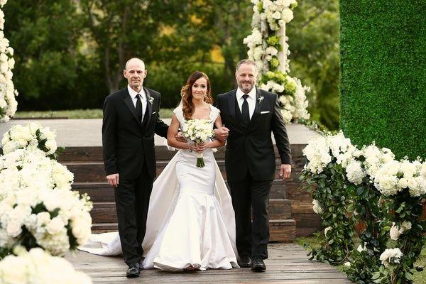 Celebrity Bride Processional    Photography: Bob %26 Dawn Davis Photography   Read More:  http://www.insideweddings.com/weddings/ashley-hebert-and-jp-rosenbaum/438/