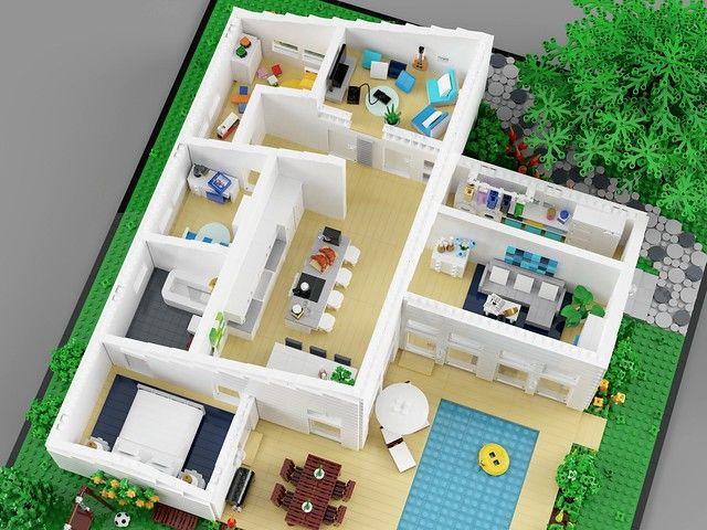 Family House Big Lego Lego Furniture Family House