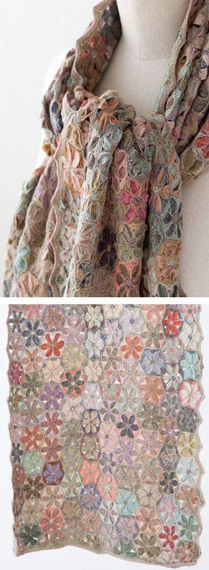 Crochet scarf designed by Sophie Digard | LILI et NENE