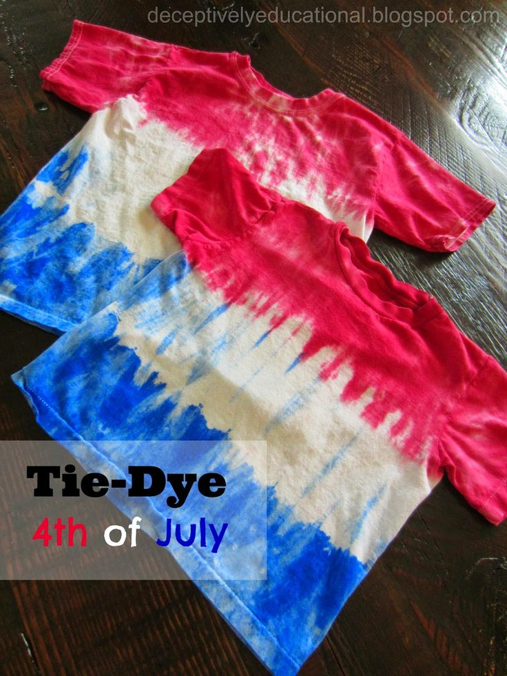 Relentlessly Fun, Deceptively Educational: Tie-Dye Fourth of July shirts (step by step instructions)