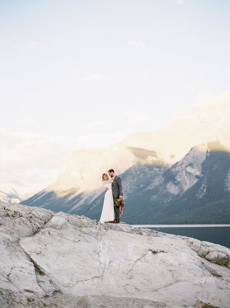 Maria and Sean's Intimate Banff Mountain Elopement by Erika Brown Photography | Wedding Sparrow