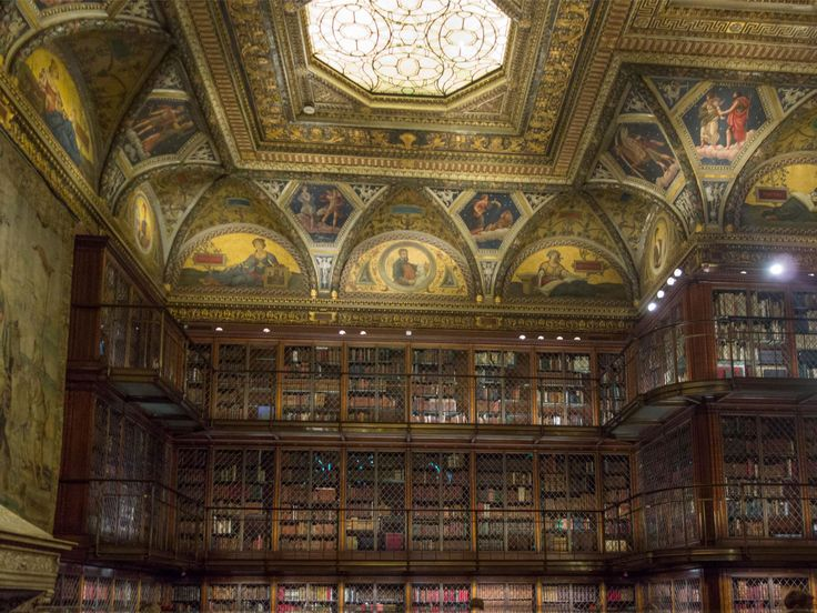 The Morgan Library and Museum In J.P. Morgans One-time abode.  Two story library and other opulent rooms.   The Museum of the Moving Image in Astoria, Queens (about video games, filmmaking history, etc.