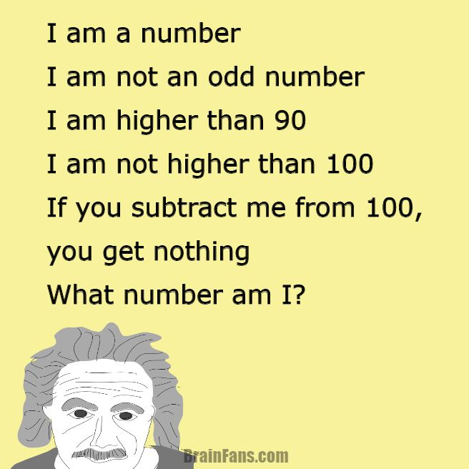Brain teaser - Logic Riddle - riddle for geniuses - Can you solve this logic riddle? Just follow the sentences on picture and find a number. It should be quite easy!