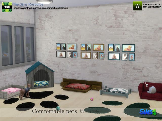 Comfortable Pets By Kardofe Sims 4 Pets Tiere