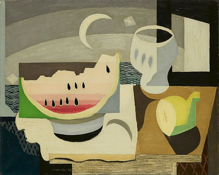 'A slice of watermelon, 1927 - Louis Marcoussis (1878–1941)