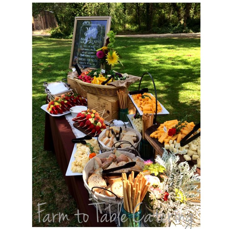 Food For Outdoor Wedding: 104 Best Images About Farm To Table Catering On Pinterest