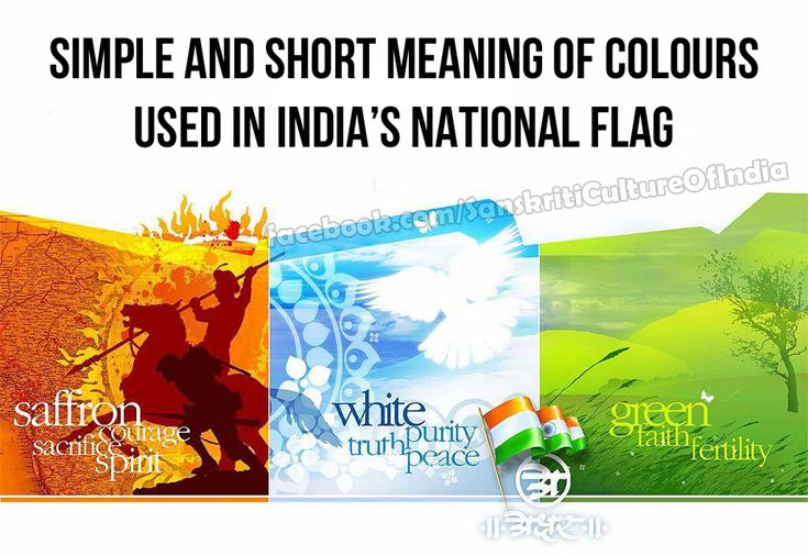 """The Meaning & History of the Indian Flag: The Indian emblem depicts the blue Ashoka Chakra - the """"wheel of the law"""" The Chakra was based on the emblem of the 3rd century Mauryan emperor, Ashoka The 24 spokes of the wheel signifies 24 hours and progress every hour"""